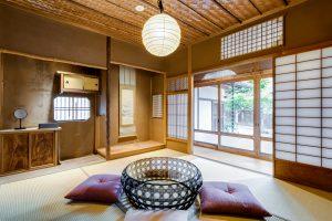 【福稲102/3名定員】桜の木と竹で編んだ網代天井が美しい元茶室